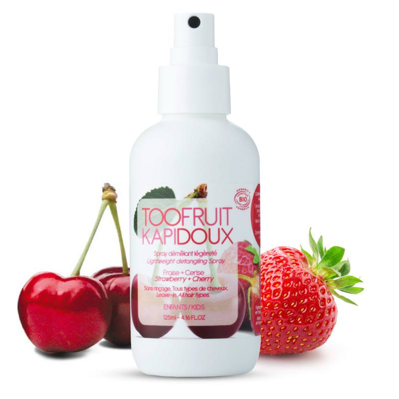 "TOOFRUIT SPRAY DESCURCAT PAR ""KAPIDOUX"" CIRESE CAPSUNE, 125 ML"