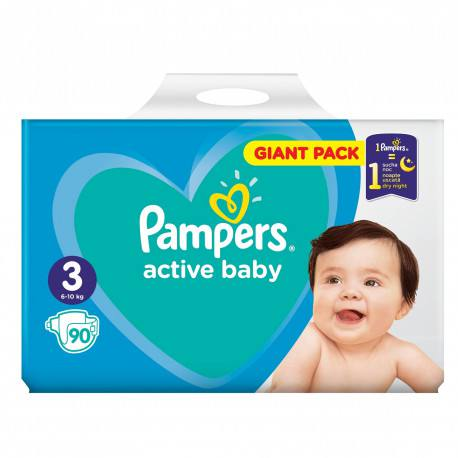 Pampers nr. 3 Active Baby 6-10 kg, 90 buc