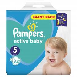 Pampers nr. 5  Junior Active Baby 11-16 kg, 64 buc