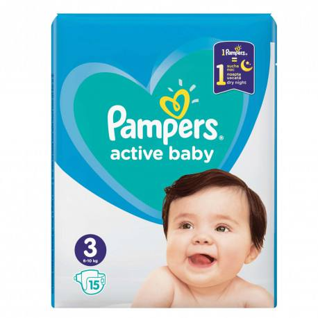 Pampers nr. 3 Active Baby 6-10 kg, 15 buc