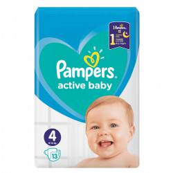 Pampers nr. 4 Active Baby 9-14 kg, 13 buc