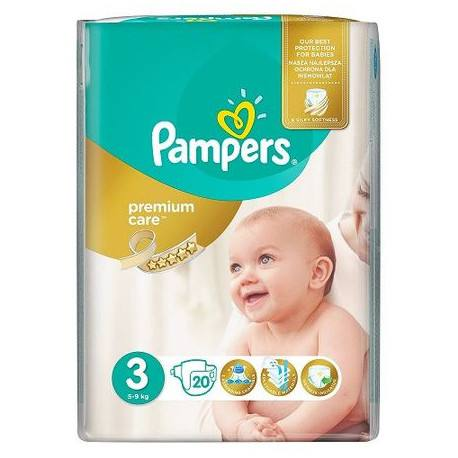 Pampers nr 3, Premium Care Midi, 5-9 kg, 20 bucati