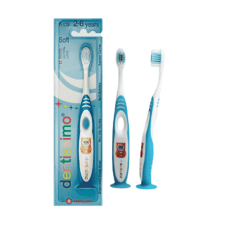 Dentissimo periuta de dinti blue copii Kids 2-6 years Soft bristles
