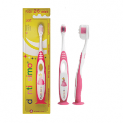 Dentissimo periuta de dinti pink copii Kids 2-6 years Soft bristles