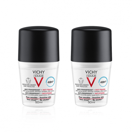 VICHY - Bipack deo roll-on anti-urme homme 48h, 50ml 1+1-50%