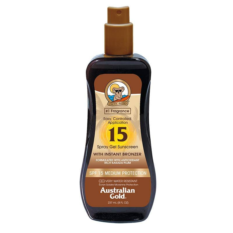 Australian Gold Spray-gel SPF 15 cu autobronzant, 237 ml