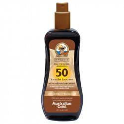 Australian Gold Spray-gel SPF 50 cu autobronzant, 237 ml